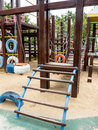 Children playground clamber and swing in Stock Photography