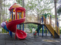 Children playground colorful slider for in Royalty Free Stock Photos