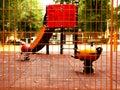 Children playground at sunset Royalty Free Stock Photo