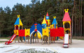 Children playhouse towers slides climbing walls Stock Photography
