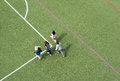 Children playing in a chinese school stadium high angle view Royalty Free Stock Photo