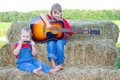 Children playing instruments. Royalty Free Stock Images