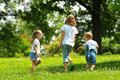 Children playing outdoors Royalty Free Stock Image