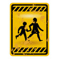 Children playing sign Royalty Free Stock Photos