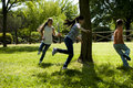 Children playing tag Royalty Free Stock Photo