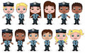 Children Police Set 2 Royalty Free Stock Photos
