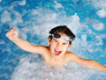 Children at pool, happiness Stock Photo