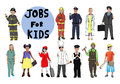 Children with professional occupation concept group of Royalty Free Stock Image
