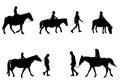 Children riding horses Royalty Free Stock Photo