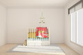 Children room with toys and small bed Stock Photo