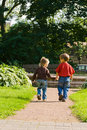 Children run away Stock Photos