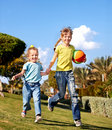 Children running in park. Stock Images
