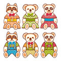 Children`s animals ornament. Kid cute pet.