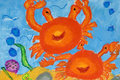 Children's Art - Marine Life Stock Image