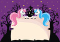 Children`s background with unicorns