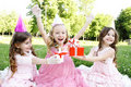 Children's Birthday Party outdoors Royalty Free Stock Images