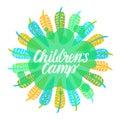 Children`s camp.
