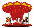 Children`s carousel Stock Photography