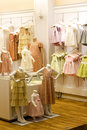 Children's Clothing Shop Stock Images