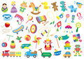 Children s day a variety of toys Stock Image