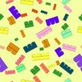 Of children`s designer pattern multi-colored blocks