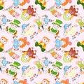 Children`s dolls pattern in costumes 4