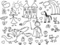 Children's drawings,vector Royalty Free Stock Photography