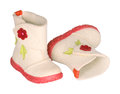 Children's felt boots Royalty Free Stock Image