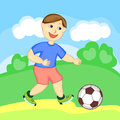 Children's football Stock Images