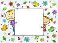 Children's frame. Royalty Free Stock Photos