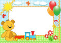 Children's frame. Bear. Handmade. Royalty Free Stock Image