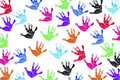 Children's Handprints Royalty Free Stock Photo