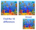 Children`s illustration Visual Puzzle: find ten differences from Royalty Free Stock Photo