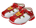 Children's leather shoes beautiful style Royalty Free Stock Photo