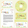 Children's organization template Stock Photos