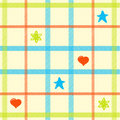 Children's plaid pattern Stock Image