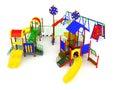 Children`s play complex 3d render on white background