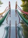 Children s playground slides Stock Images
