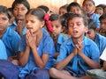 Children's prayer Stock Photo
