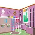 Children`s room design violet