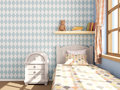 Children`s room with rhombuses