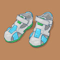 Children`s sandals for a boy