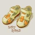 Children`s sandals for a boy. Shoes.
