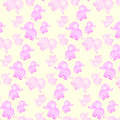 Children`s seamless pattern with pink elephants