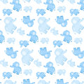 Children`s seamless tender pattern with blue elephants