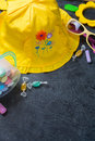 Children's summer yellow hat