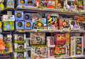 Children s toys for infants in the supermarket russia Stock Image