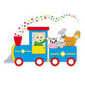 Children's train animals Royalty Free Stock Photos