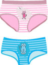 Children s underpants with cats vector illustration Stock Images