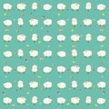 Children s wallpaper baby green with sheep Stock Images